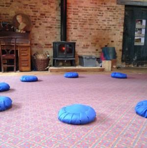 Quadrangle meditation cushions granary