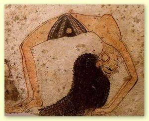 yoga-egyptian-wall-painting