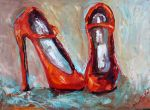 Red Shoes painting by Karen Tarlton