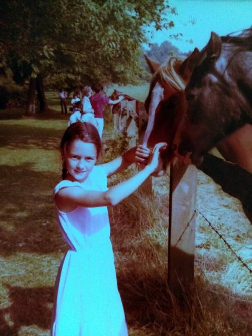 me with horse child photo